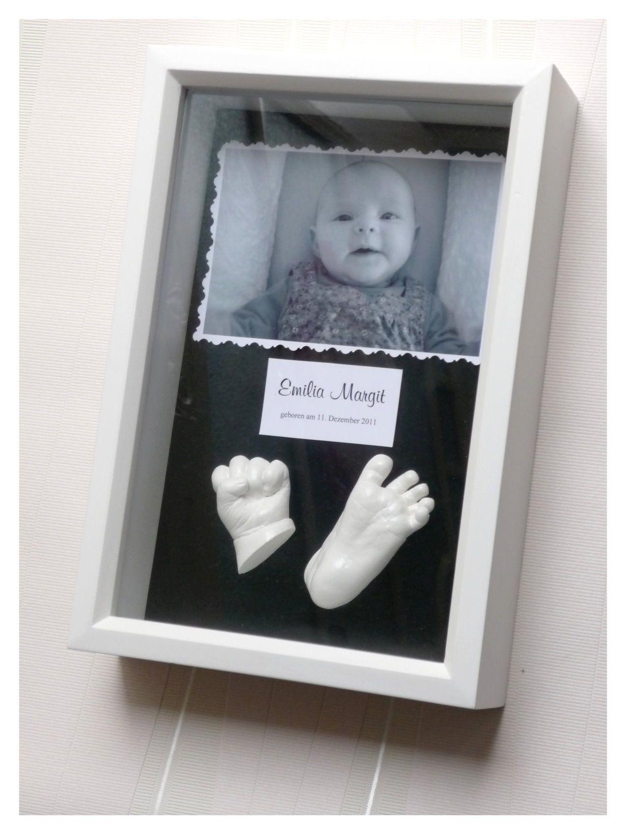 3D - Babyabdrücke in Erfurt   Basteln, Bauen, Kleben usw ...