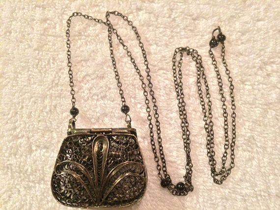 1980s Silver Mini-Purse Jewelry Case