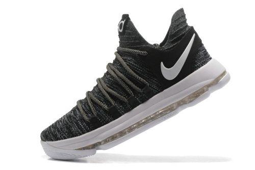 b529da9f6635 2018 Purchase KD 10 Nike Zoom EP Oreo Black White 897816 010 Kevin Durant  Mens Basketball Shoes