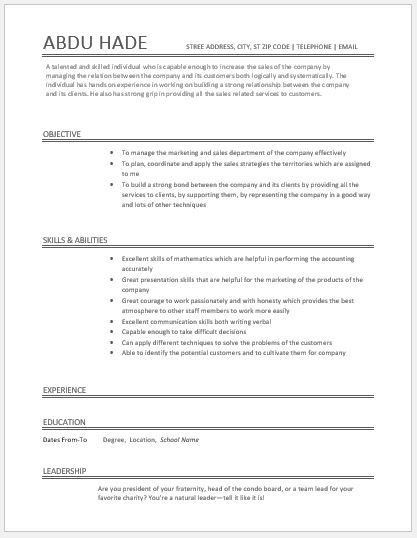 Account Executive Resume DOWNLOAD at   writeresume2org/account - executive resume templates word