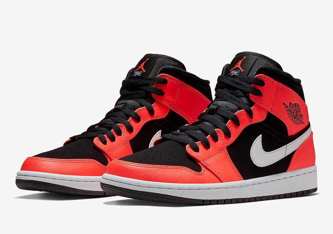 424dc3464c0 The Air Jordan 1 Mid Infrared 23 Is Available Now