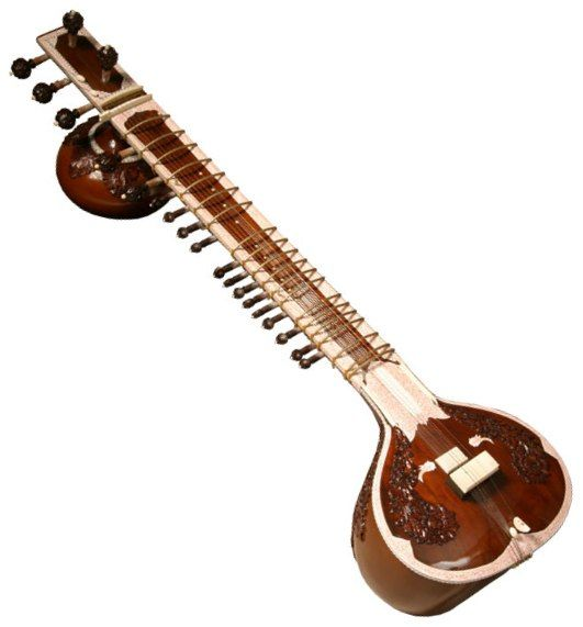 Music: The Sitar Is A 19 Stringed Instrument That Originated From India. The Instrument Alike A