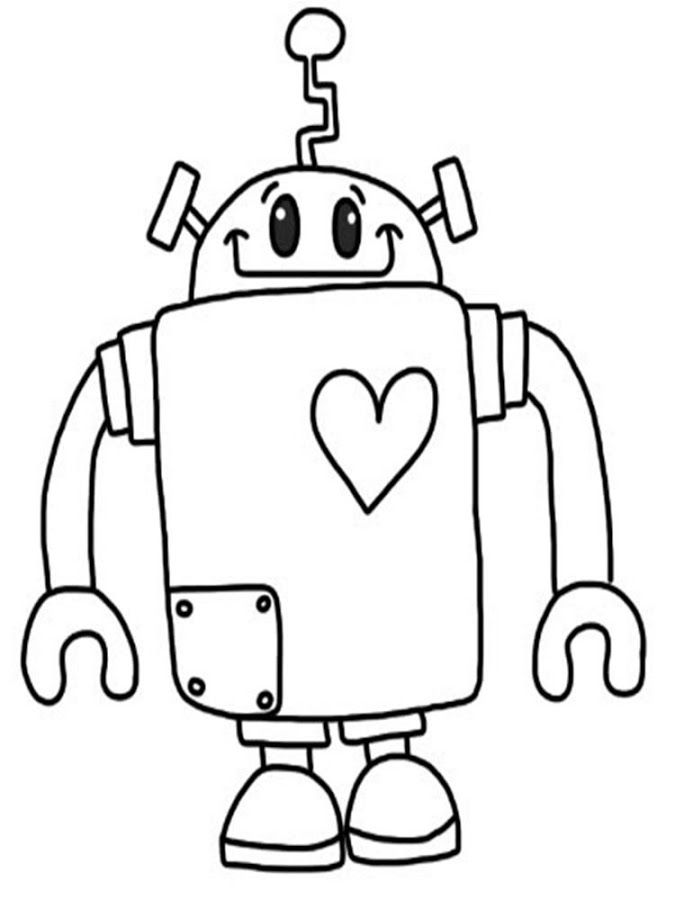 Printable Robot Coloring Pages Coloring Me Coloring Pages