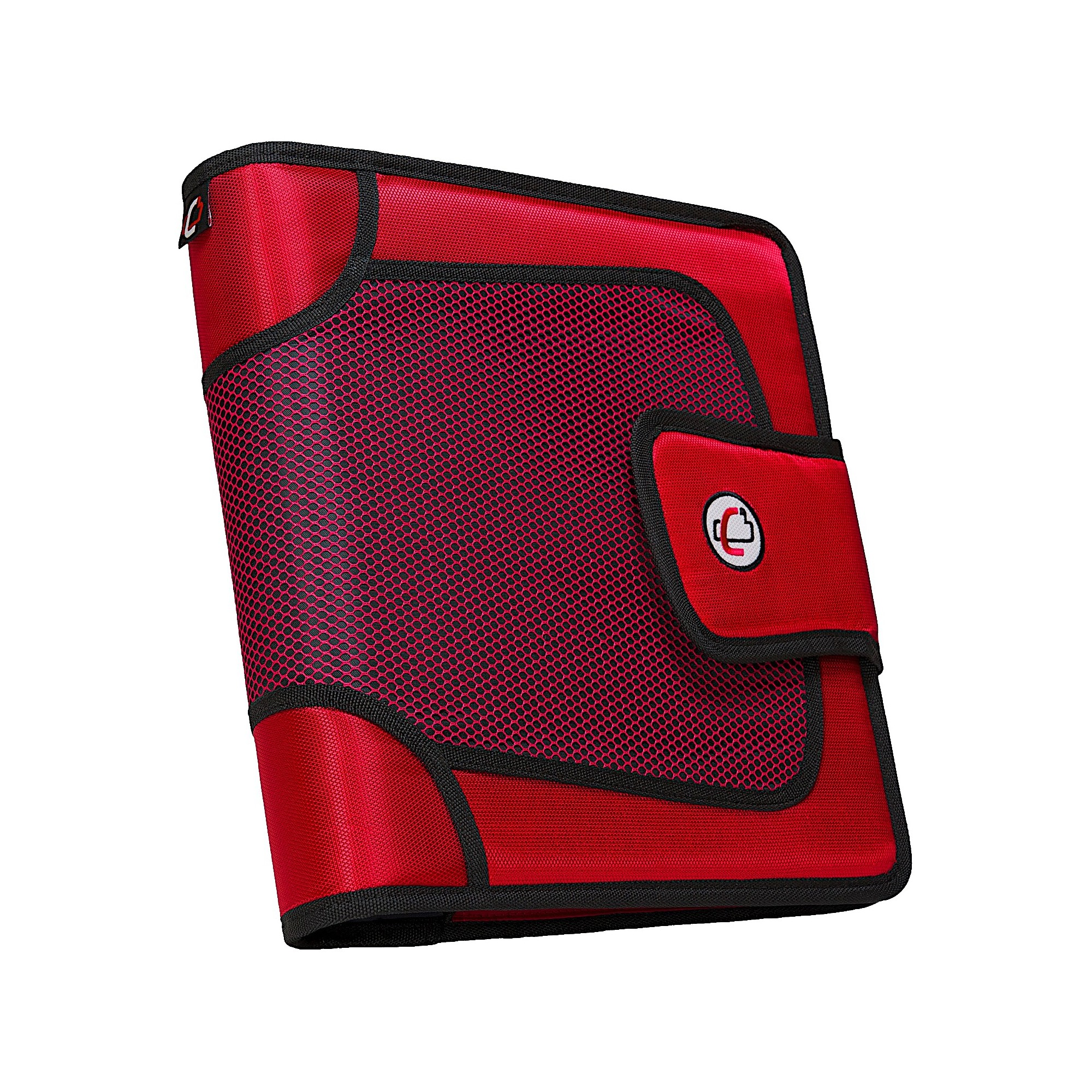 Case•it 2 3 Ring Binder With Tabbed Closer Red (With