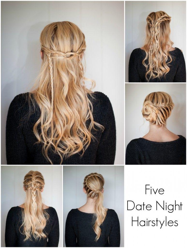 5 Date Night Hairstyles Night Hairstyles Night Out Hairstyles Hair Styles