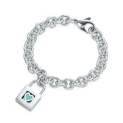 Just Got It At Discount Price Tiffany Heart Bracelet Blue Heart
