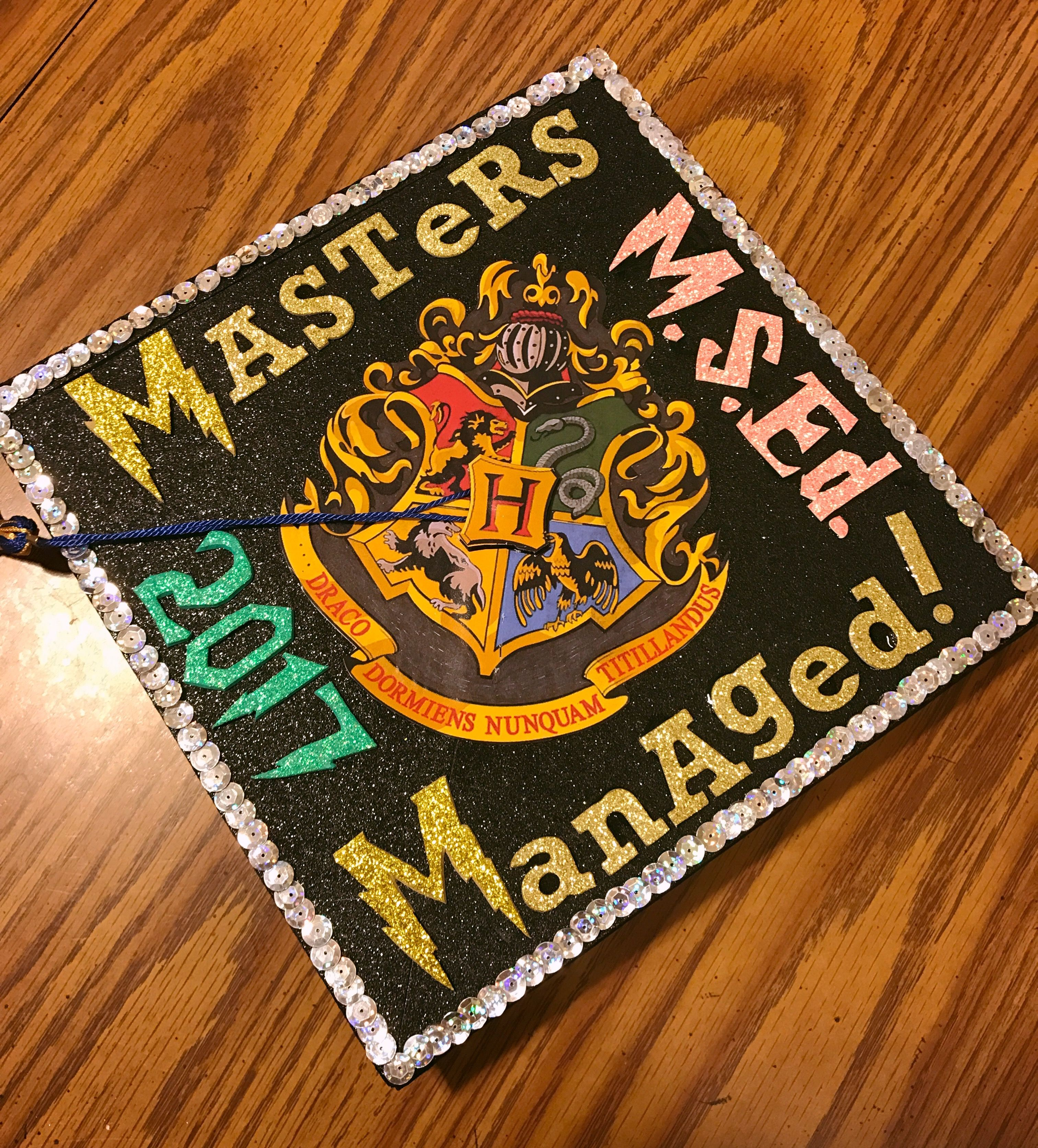 My Masters Cap For Graduation Harry Potter Forever Graduation