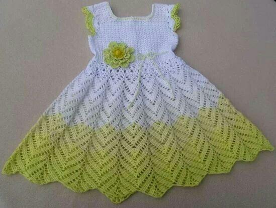 Hermoso Vestidos Para Bebé De Ganchillo Vestido De Niña