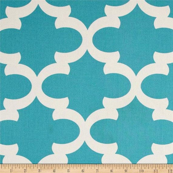CLEARANCE - Premier Prints Fynn Macon Apache Blue Moroccan Quatrefoil Home Decor Fabric - fabric by the half  yard