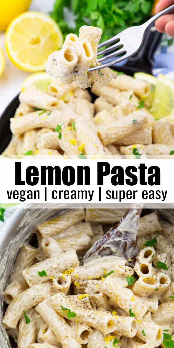 Creamy Vegan Lemon Pasta