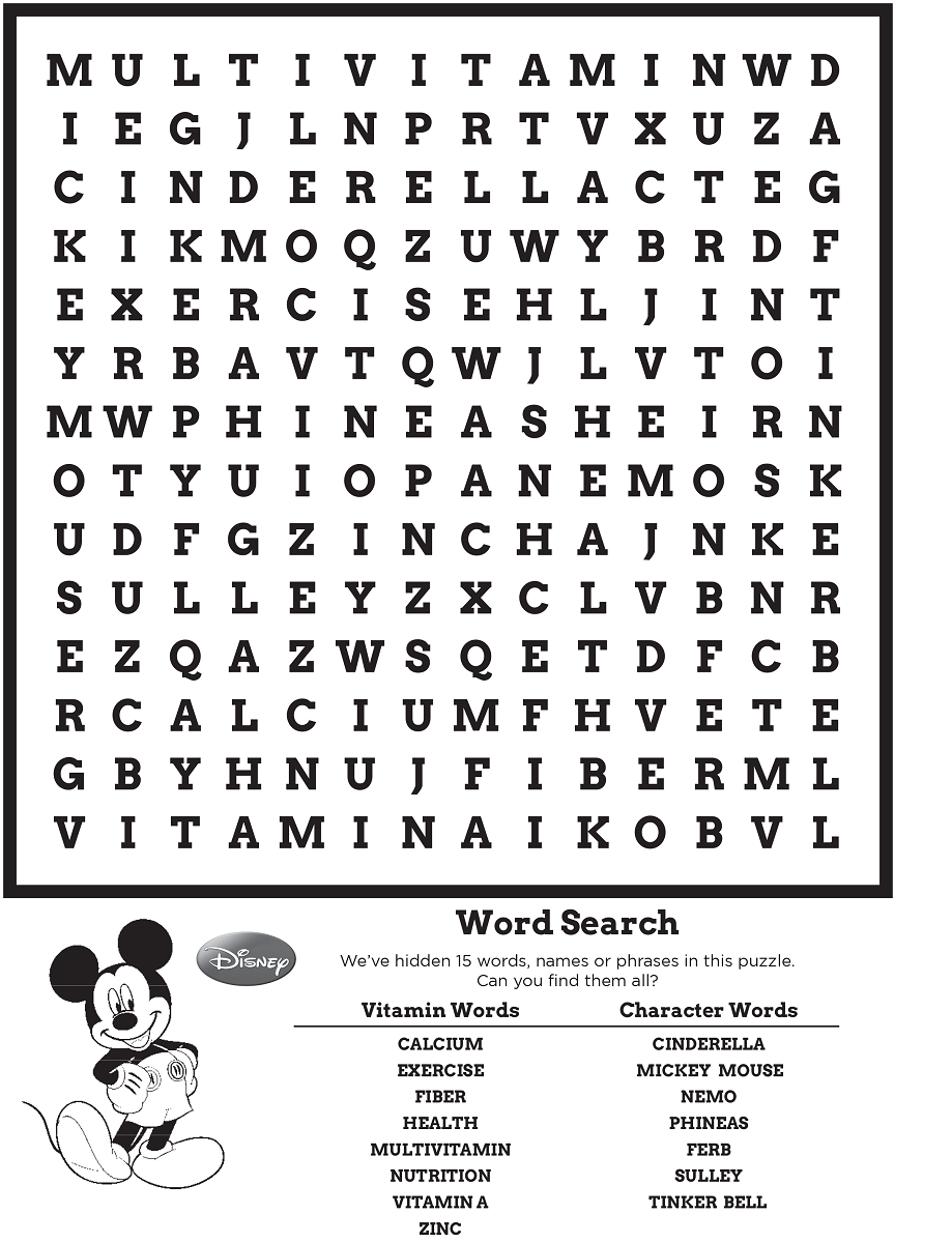 Disney Word Search Best Coloring Pages For Kids Disney