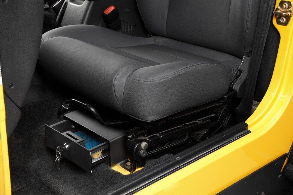 Bestop Underseat Locking Storage Box For 1997 2006 Jeep Wrangler