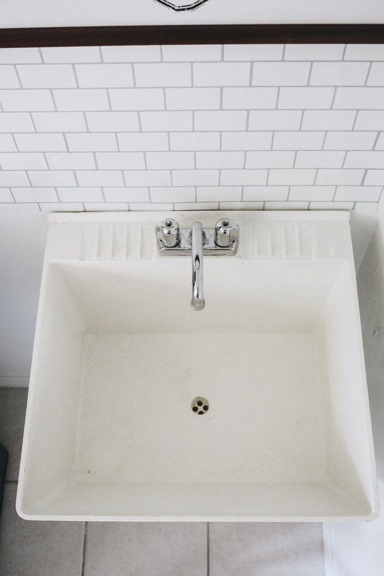 How To Clean A Stained Utility Sink Utility Sink Sink Cleaning