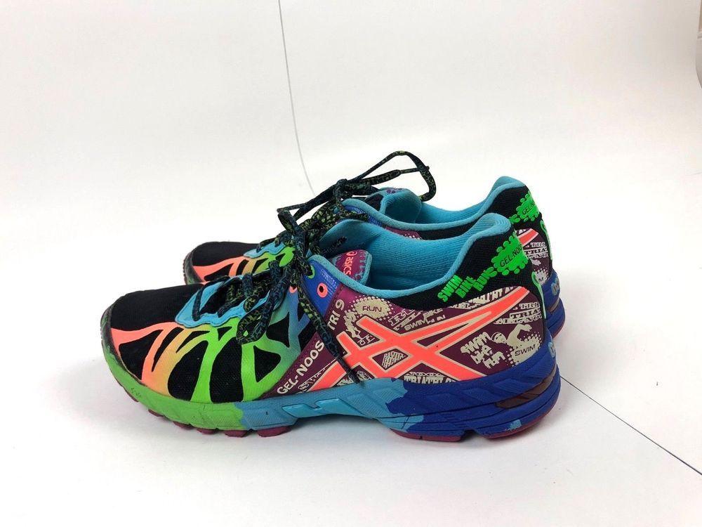 52ccd3ba20 ... authentic wholesale women asics gel noosa tri 9 t458n black green  marathon running shoe size 10