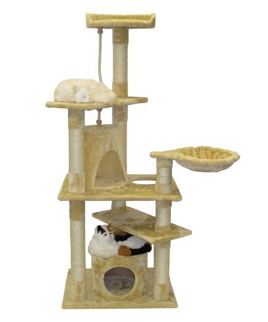 Beige & White Eight-Level Cat Condo Scratcher