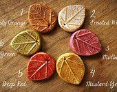 Pressed Leaf Beads with Hand Painted Pressed Leaf Designs (1 bead)