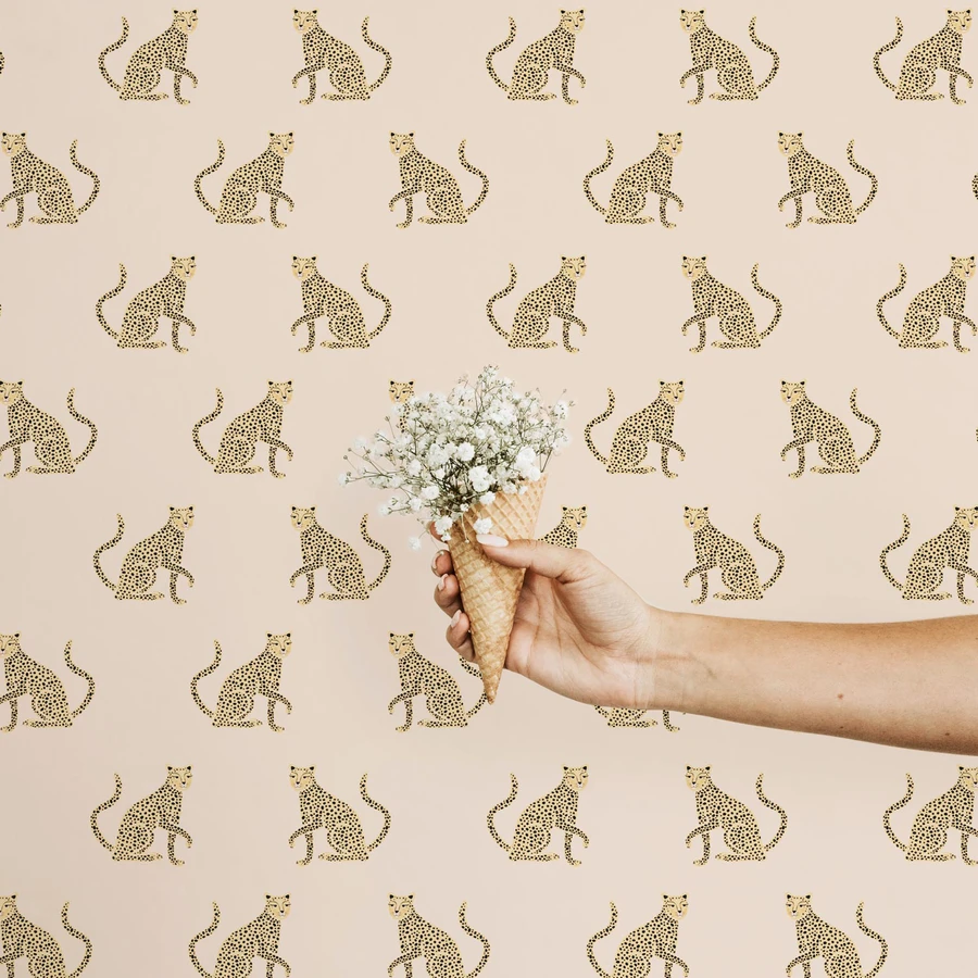 Pink Leopard Removable Wallpaper In 2020 Removable Wallpaper Kids Room Wallpaper Nursery Decor Girl