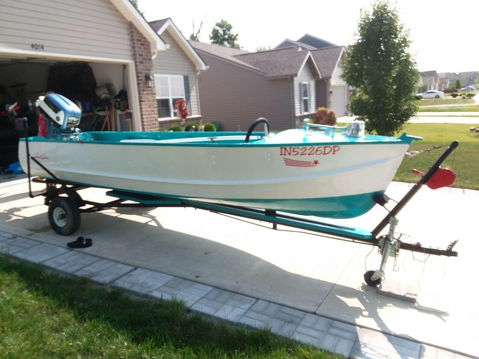 1957 Lonestar King Commander Classic Boats Vintage Boats Aluminum Boat