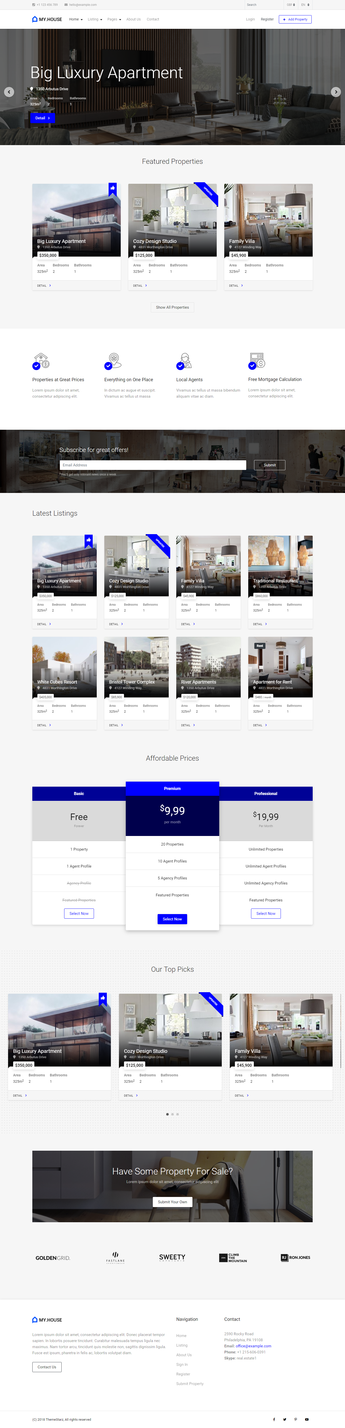 My House – the most advanced HTML template on TF that supports not