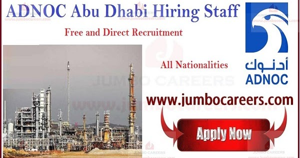 Adnoc Careers And Cv Selection October 2019 Abu Dhabi National Oil