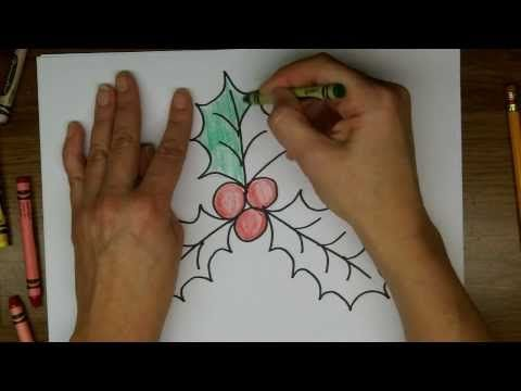 Drawing How To Draw Holly And Holly Berries Easy Drawing Lesson