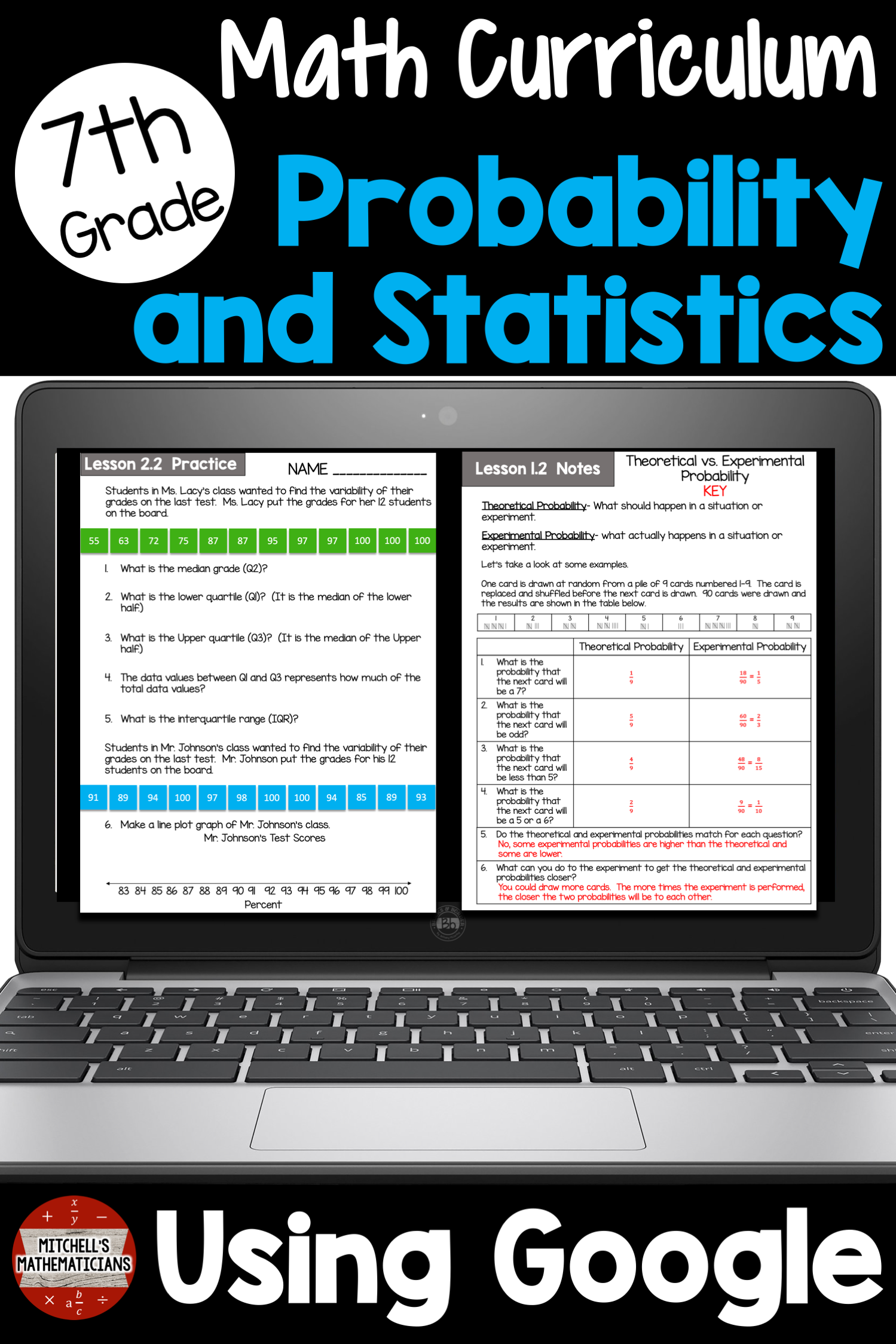 7th Grade Probability And Statistics Unit Using