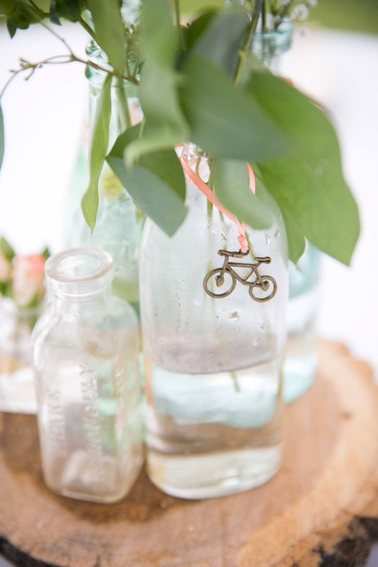 DIY bicycle themed wedding centerpiece | The Wedding ♥ | Pinterest ...