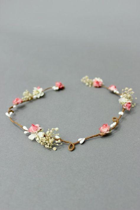 Photo of Blumenkranz schlicht, für die Hochzeit, Koralle – Coronita