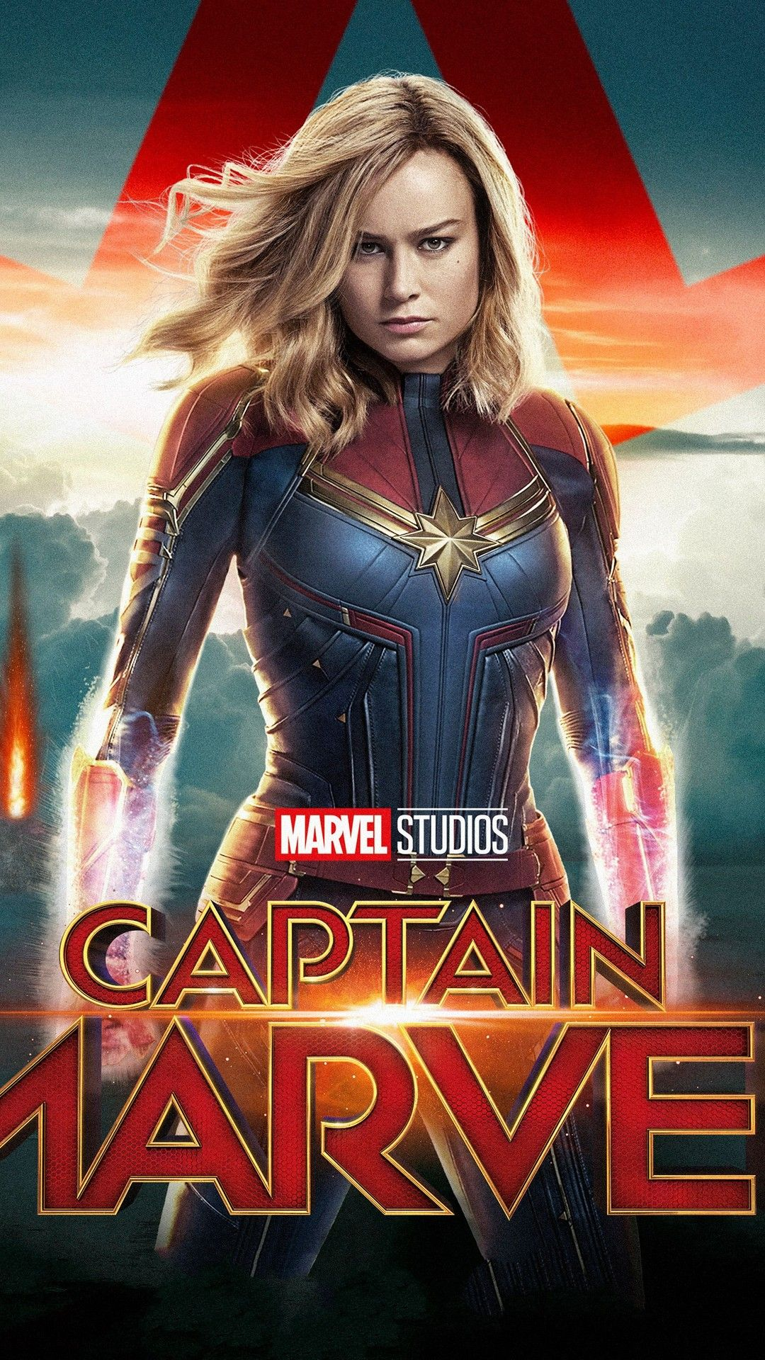 Captain Marvel Wallpaper For Mobile With Images Captain Marvel Marvel Heroines Marvel Wallpaper