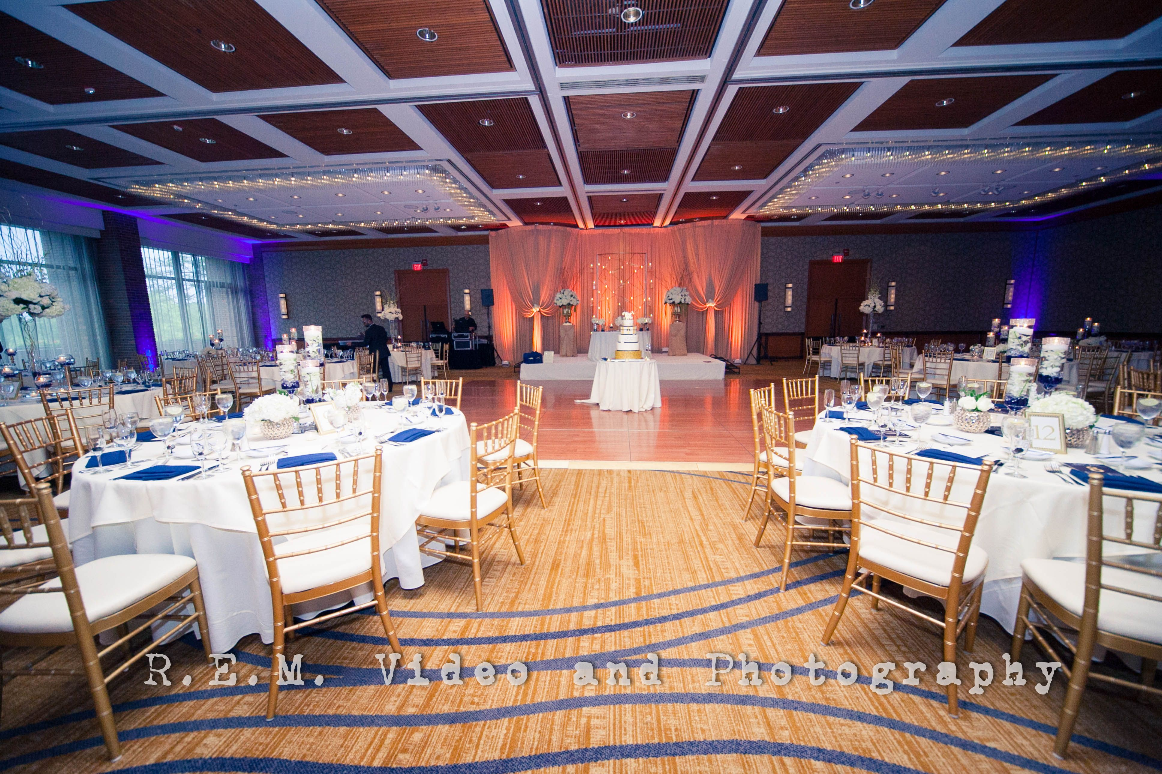 Blue and gold wedding decor  A Blue u Gold Dream Reception  Weddings  Pinterest  Receptions