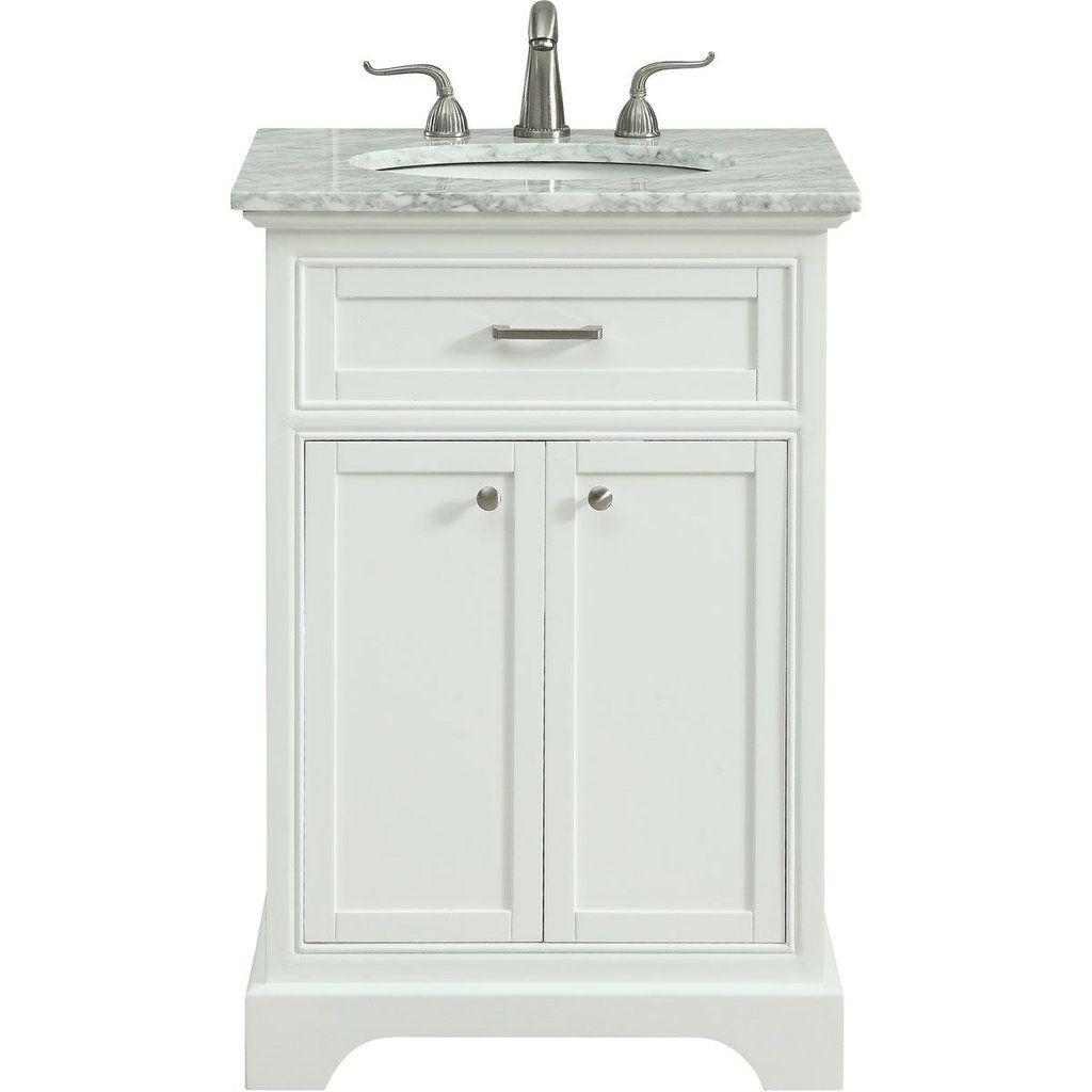 Americana 24 X 35 2 Door Vanity Cabinet White Finish Vf15024wh Bathroom Single Bathroom Vanity Vanity Cabinet