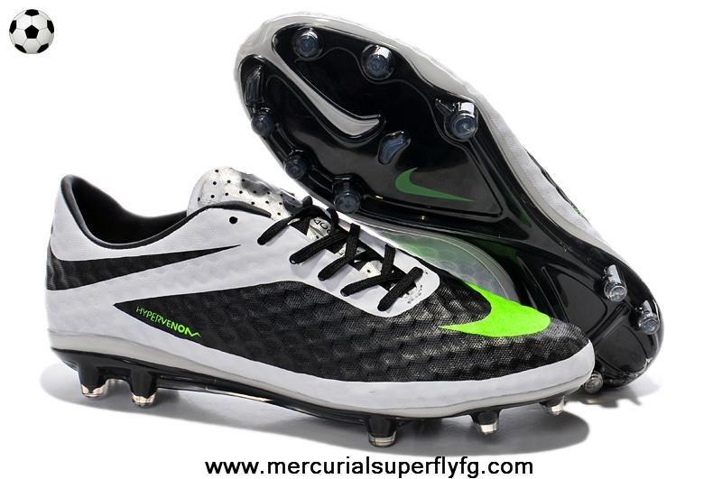 the latest e9142 122fe Nike Hypervenom Phantom FG (Black Lime White Silver)