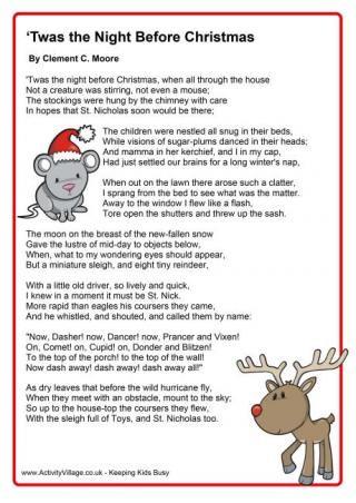 twas the night before christmas christmas poem free download - Twas The Night Before Christmas Poem Funny