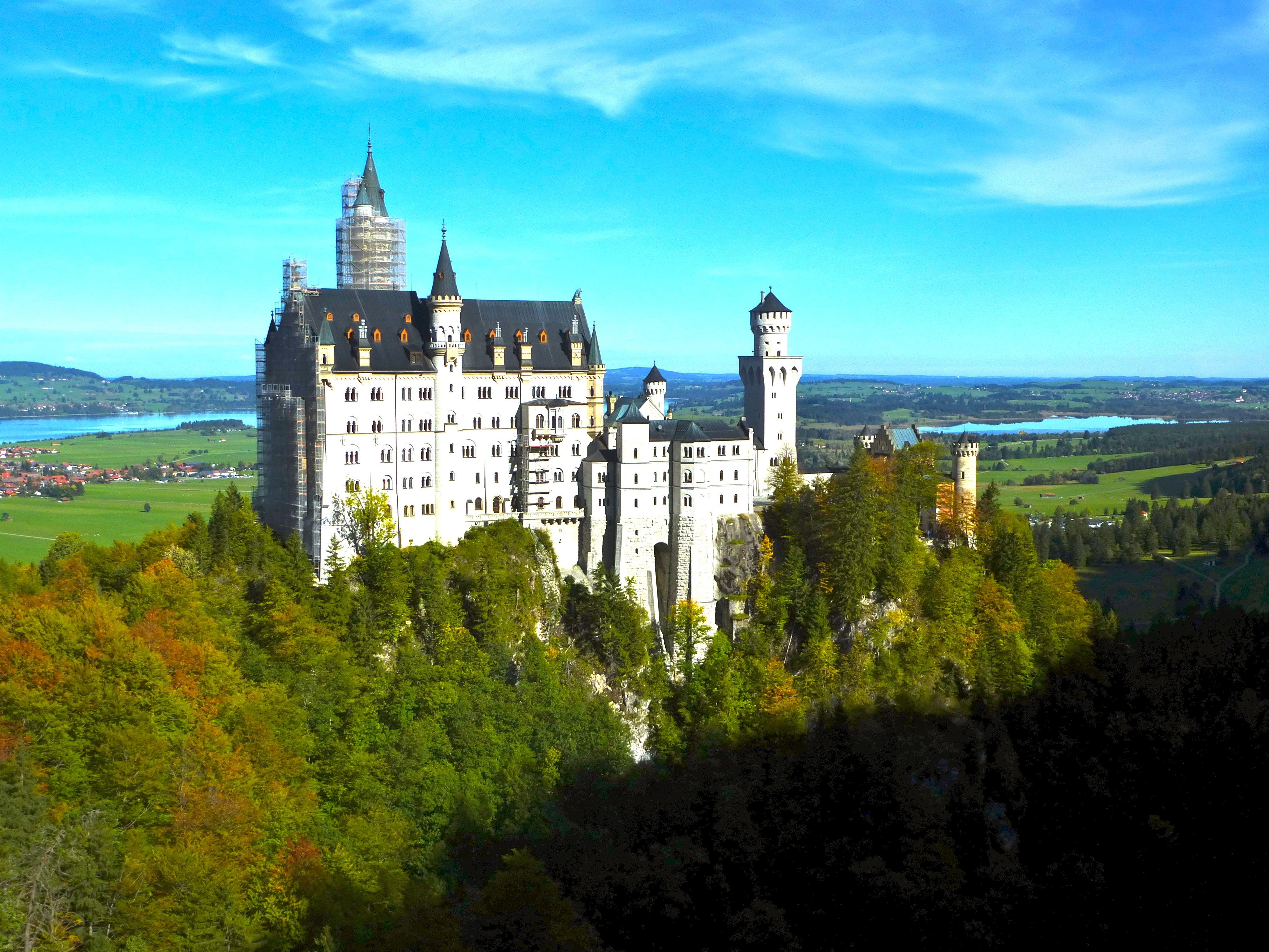 Schloss Neuschwanstein Walt Disney Castle Inspiration Fusen