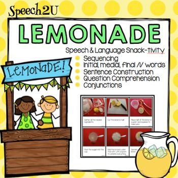 This packet helps you teach vocabulary and language skills while enjoying a fresh glass of lemonade with your students.   by Speech2u