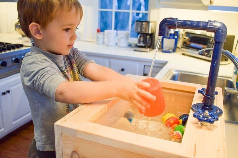 Toy Sink With Running Water Kids Sink Kids Play Kitchen Diy Play Kitchen