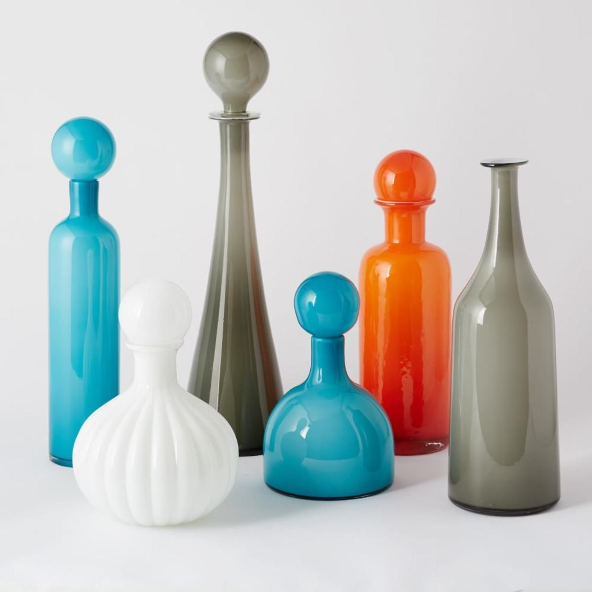 Mid-Century Glass Vases
