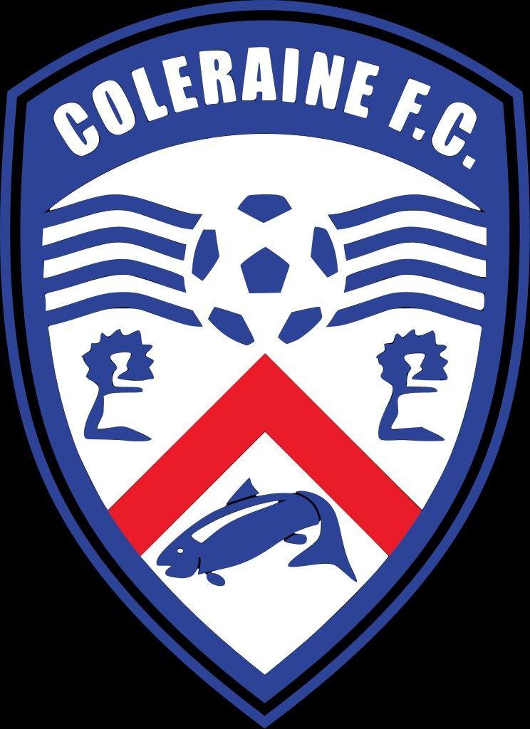 Coleraine of northern ireland crest football team logos