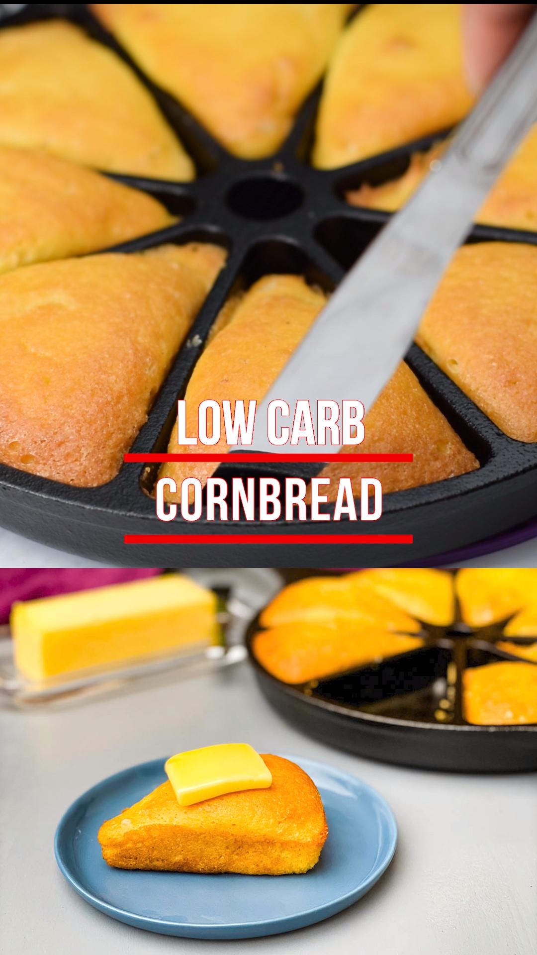 Easy Keto Low-Carb Cornbread