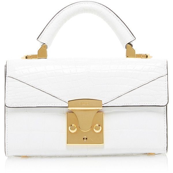 Top Handle 2 0 Mini Handbag White Alligator 11 500 Liked On Polyvore Featuring Bags Handbags Purse Kiss L