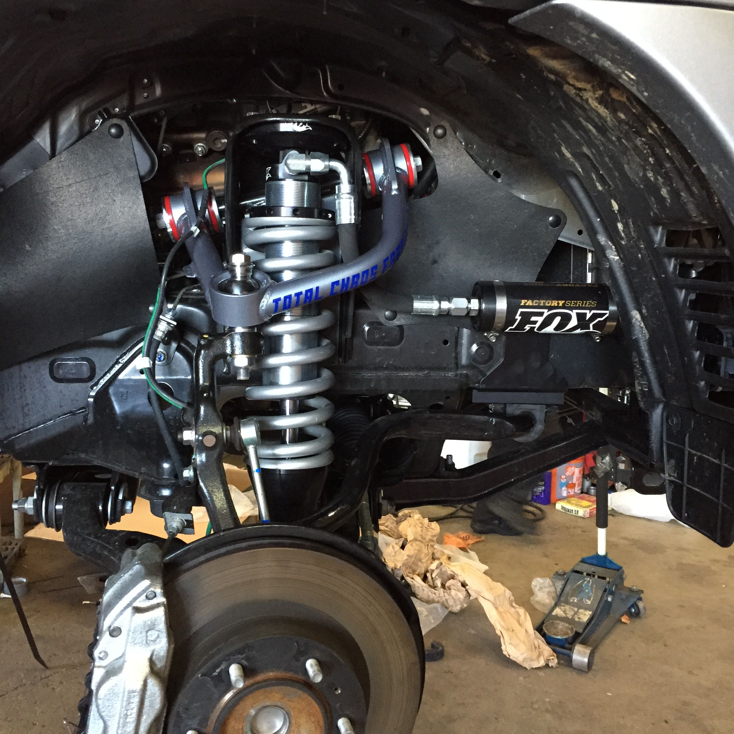 Tacoma front suspension  Fox 2 5 extended travel coilovers