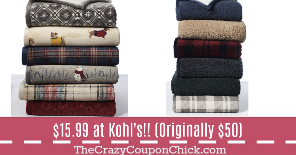 Kohls Throw Blankets Unique Hot** Fleece Sherpa Throws Only $1599 Originally $50 At Kohl's 2018