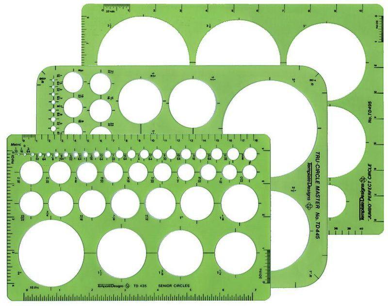 Set of 15 Large Series Ellipse Templates ALVIN 731613