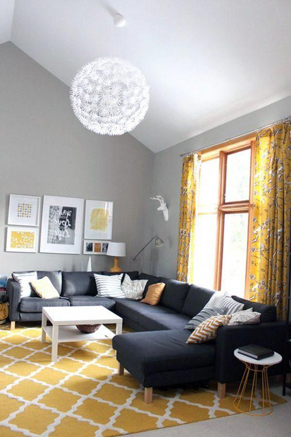 Yellow And Gray Living Room Decor: Gray Yellow Living Room #livingroomdecorturquoise