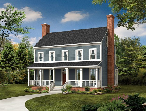 House Plans Home Plans And Floor Plans From Ultimate Plans Colonial House Plans Country Style House Plans Porch House Plans