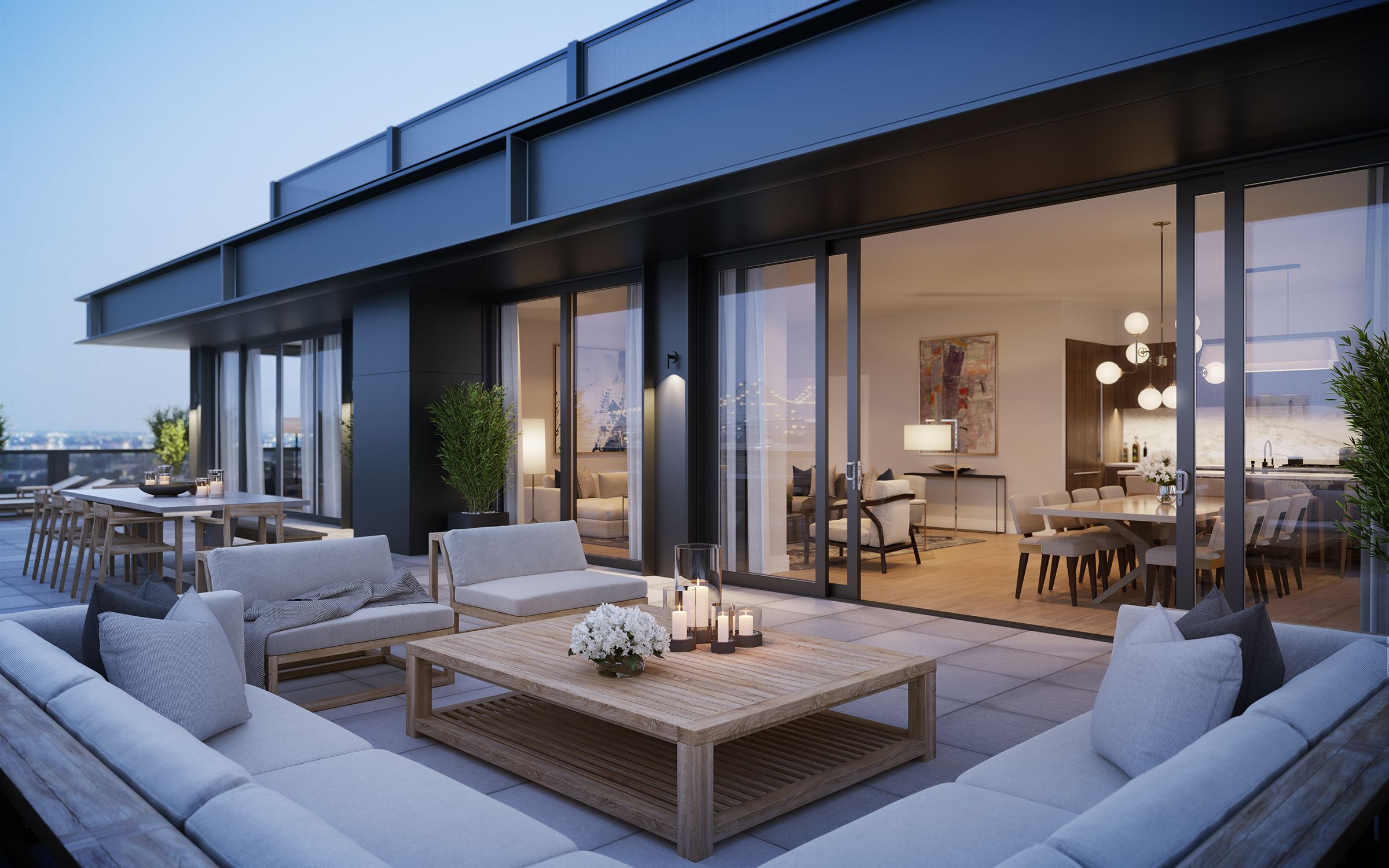 See this fantastic penthouse decorated by luxury