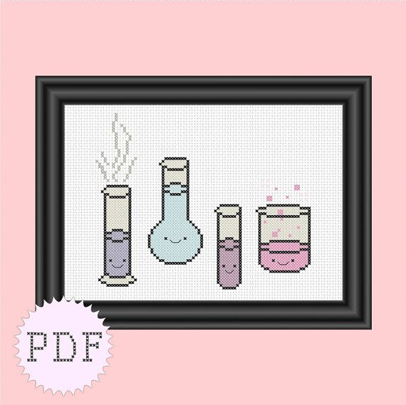 Kawaii cross stitch pattern PDF INSTANT by DisorderlyStitches