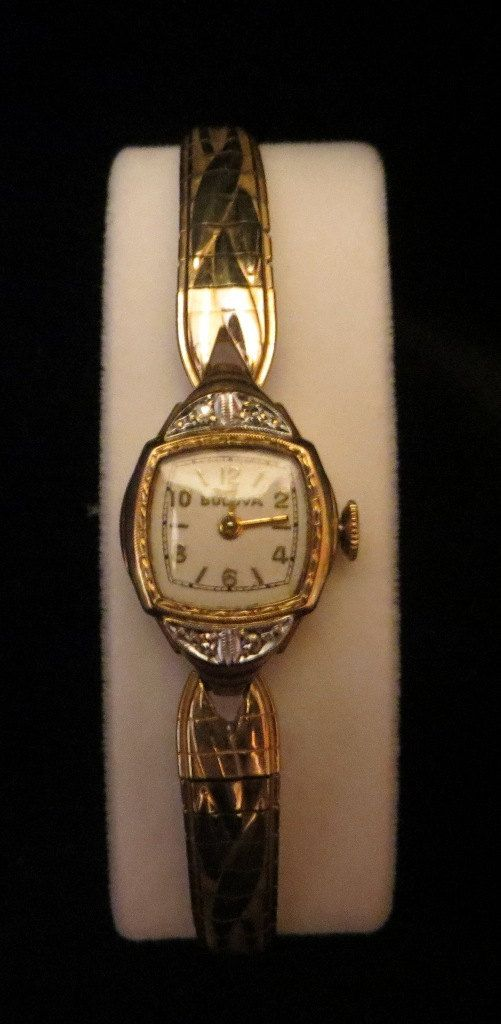 Vintage 17 Jewel 10k Gold Filled Swiss Movement Bulova Ladies Watch With Diamonds Vintage Watches Women Vintage Watches Womens Watches