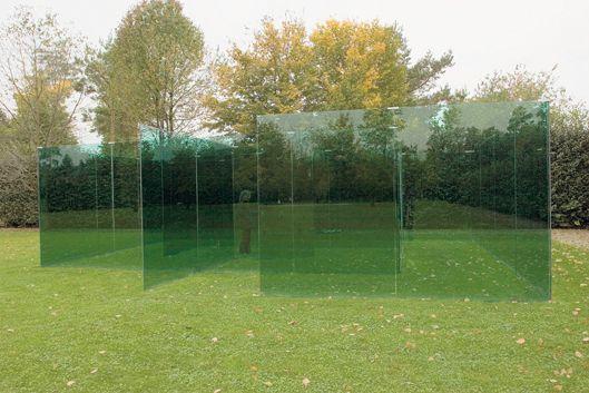 Impressive glass labyrinth.