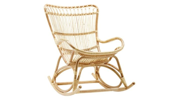 Fauteuil Rockingchair Et Reposepieds En Rotin Monet Make In The - Fauteuil rocking chair design